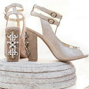 Beautifully ornate heeled shoes by Joyfolie